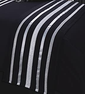BLACK & SILVER DIAMANTE BLING BEDDING AND/OR CURTAINS AND/OR ...