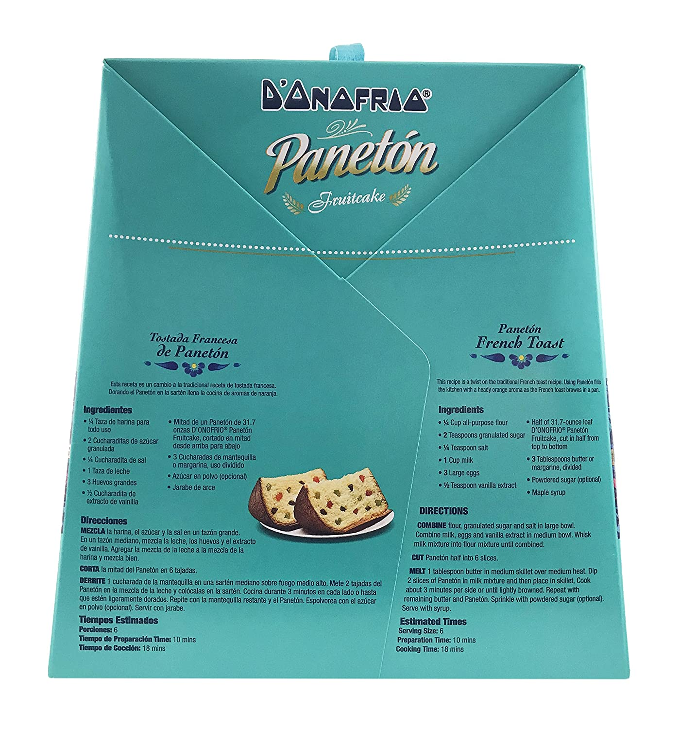 Paneton Donofrio Fruit Cake - Gourmet Traditional Panettone Dessert Bread - Imported from Peru - 31.7 oz./1.98 Lb.: Amazon.com: Grocery & Gourmet Food