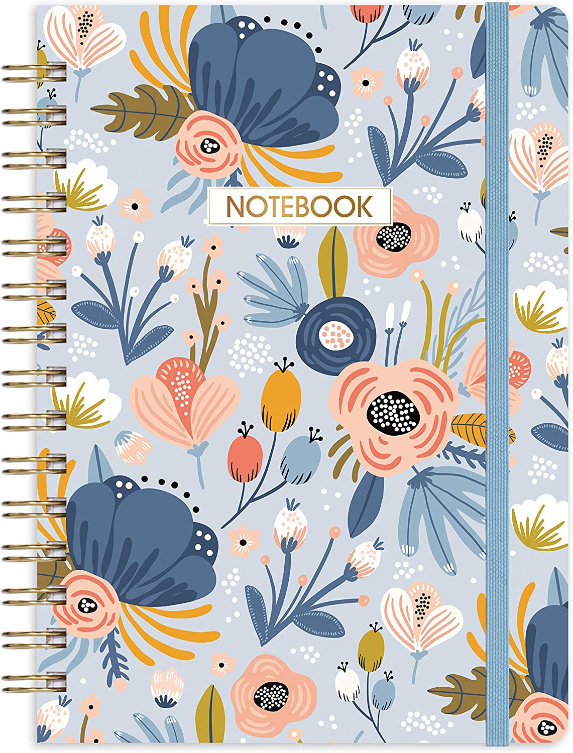 Ruled Notebook//Journal 8.45 X 6.38 Banded with Exquisite Inner Pocket College Ruled Spiral Journal//Notebook Lined Journal with Premium Thick Paper Hardcover