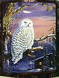 American Heritage Royal Raschel Throw Owl
