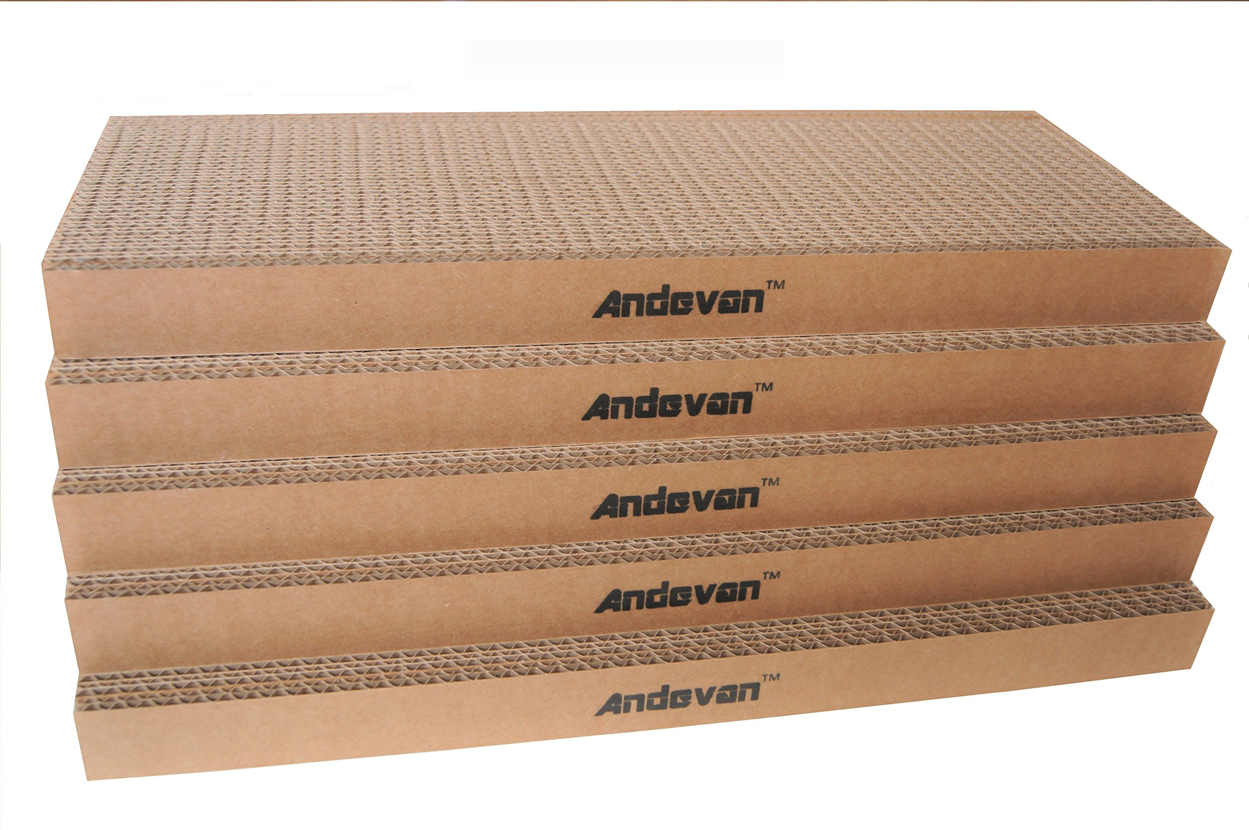 Andevan Durable Corrugated Cardboard Cat/ Kitten Scratching Pad / Board (Pack...