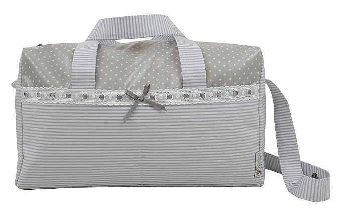 BOLSO MATERNAL PLASTIFICADO tipo maleta, Modelo Verona. Varios colores disponibles (Azul): Amazon.es: Bebé