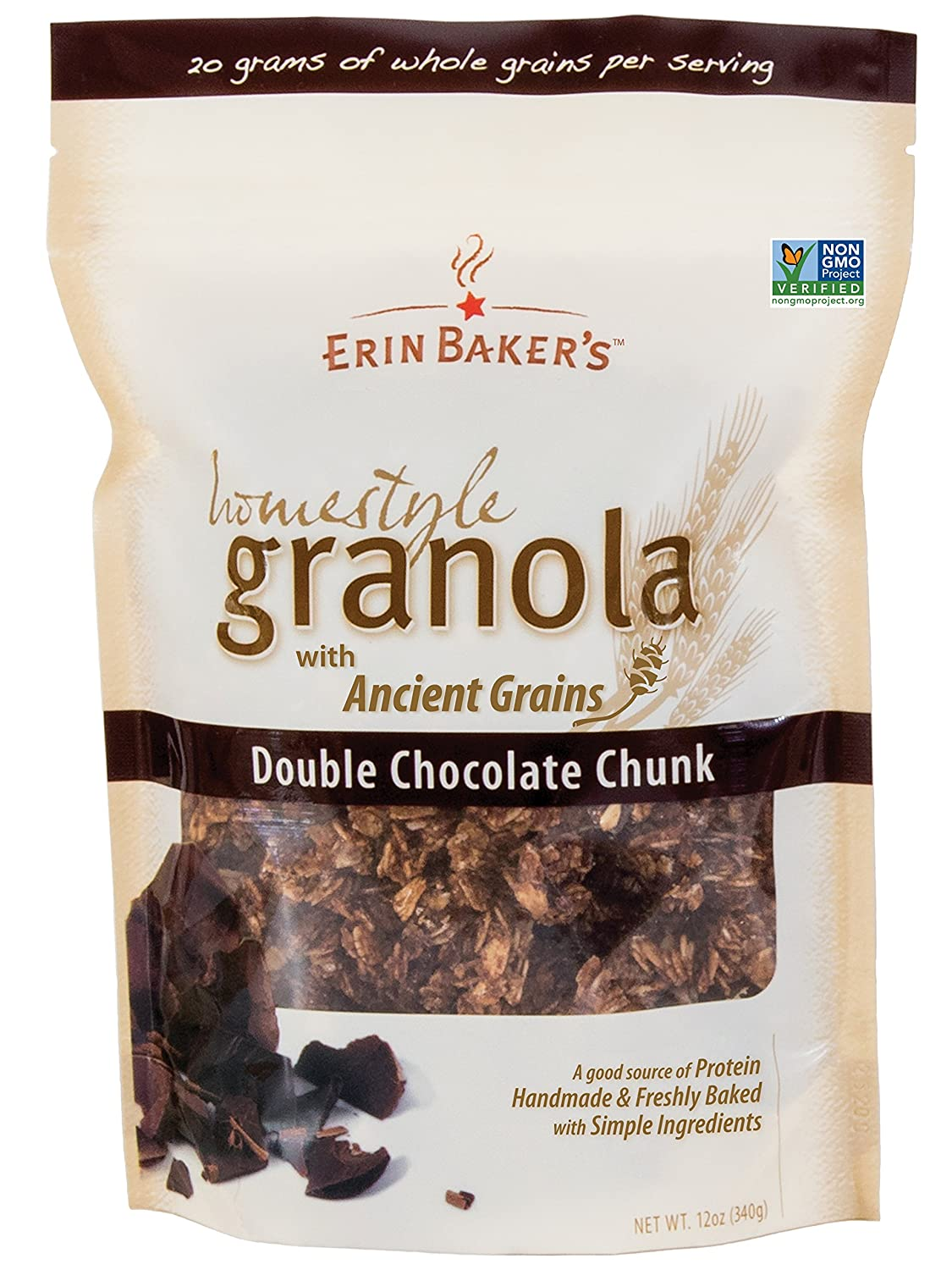 Amazon.com: Erin Baker's Homestyle Granola, Double Chocolate Chunk ...