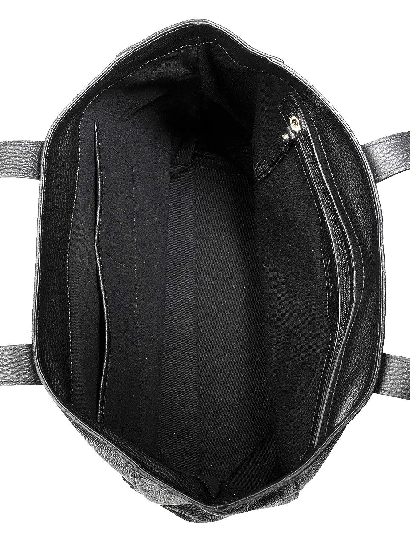 Abro Black cuoio taglia Amazon Adria Tote it Bag Scarpe unica Shopping e borse Donna nero Leather IT0wqrI