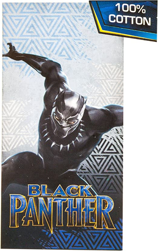 "Marvel Black Panther Beach Bath Pool Towel NEW Cotton 28/"" x 58/"""