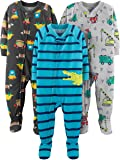 Simple Joys by Carter's 3-Pack Loose Fit Flame Resistant Polyester Jersey Footed Pajamas Niños