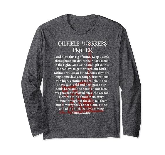 unisex oilfield christmas sweater prayer of an oilfield worker 2xl dark heather