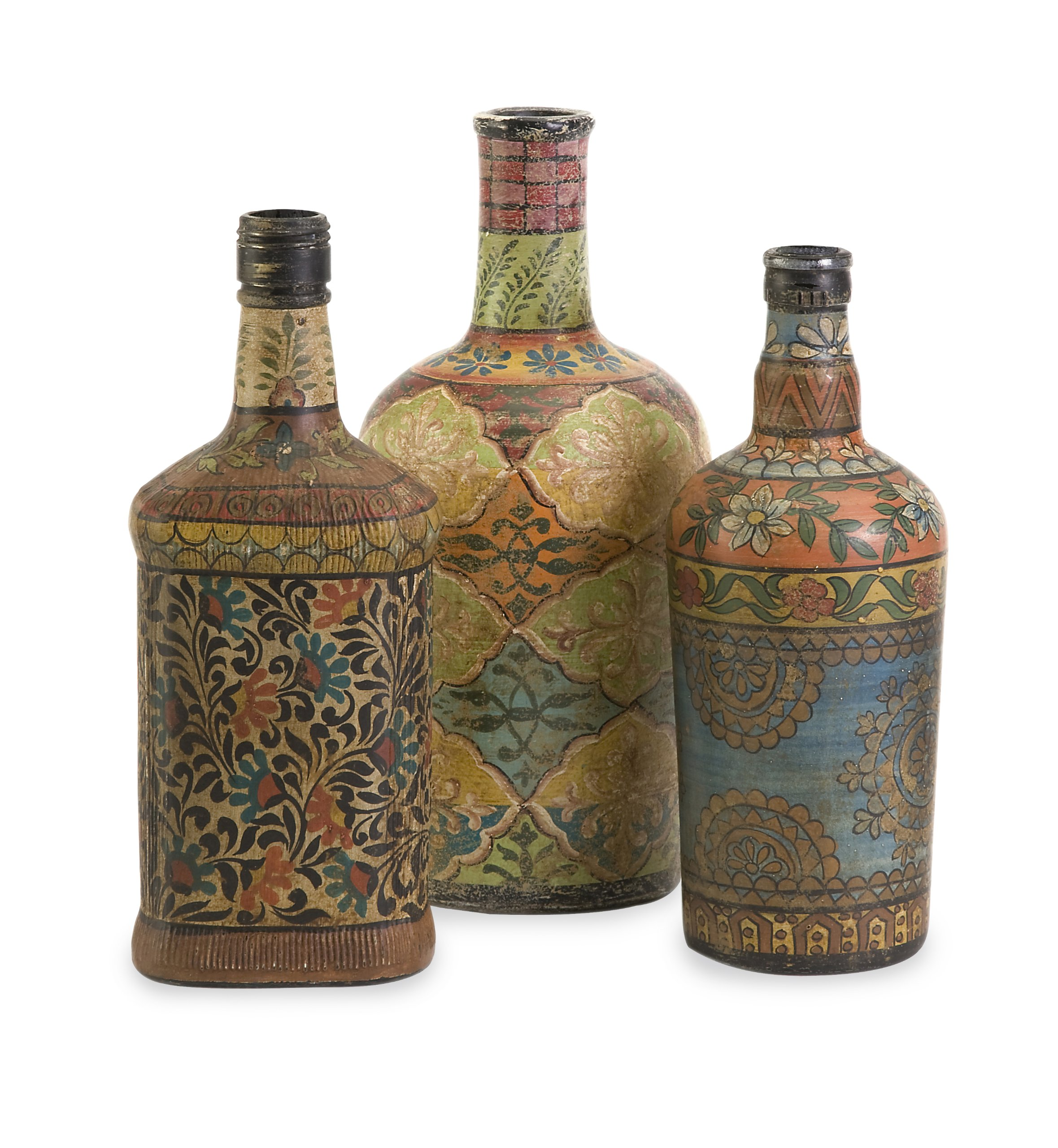 IMAX 73105-3 Circus Bottles, Set of 3 by Imax