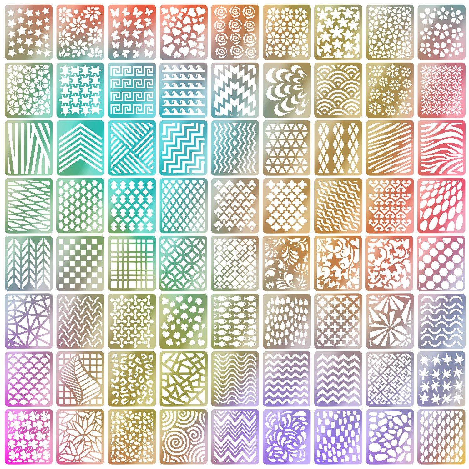Amazon.com: eBoot 1275 Pieces 49 Designs Nail Art Stencils French ...