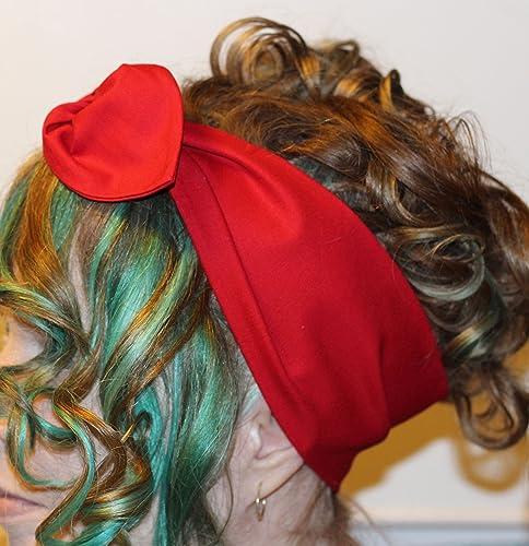 Amazon Com Red Pinup Bandana Headband Handmade