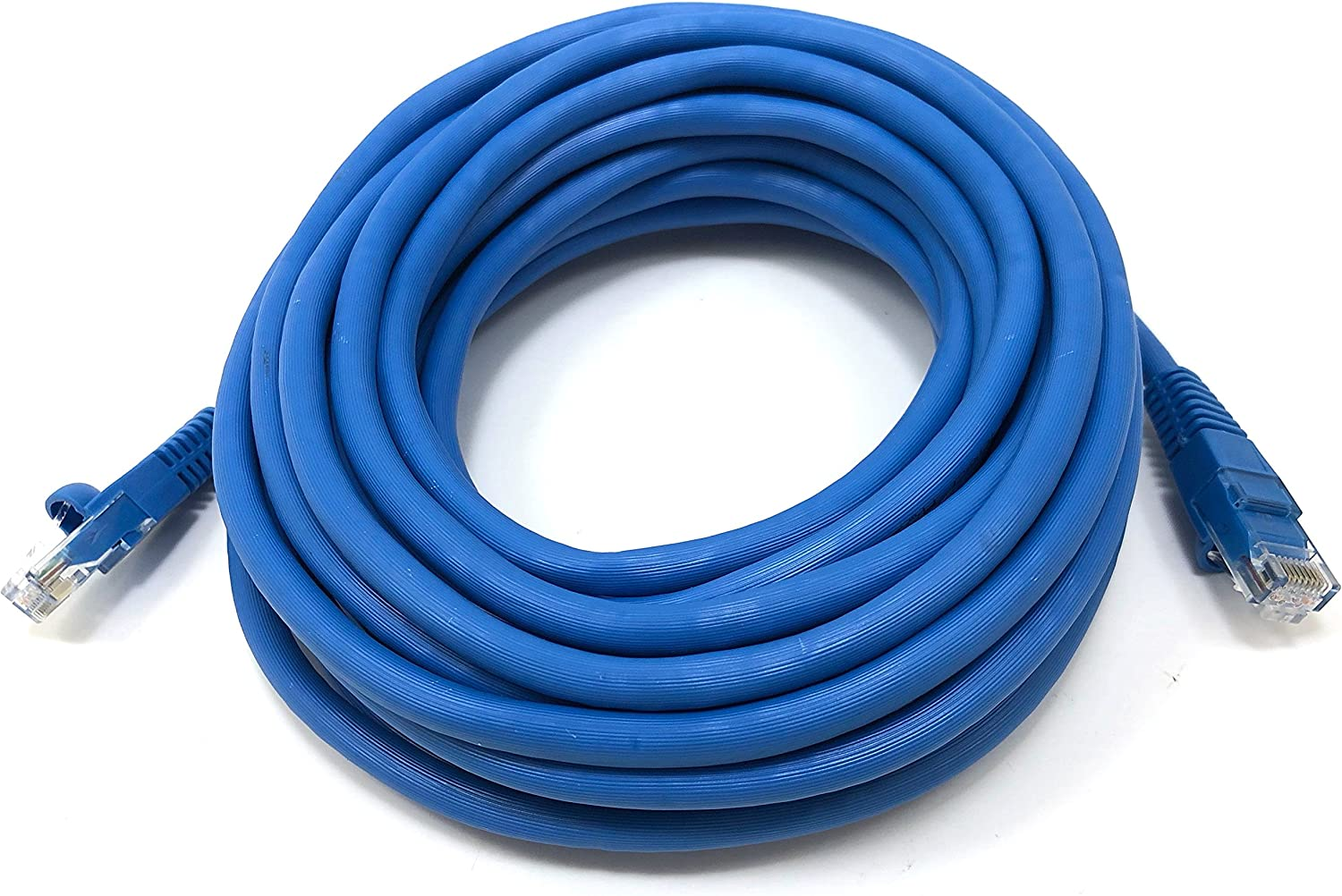 Micro Connectors 7 feet Augmented CAT 6A 10GbE UTP Molded Snagless Patch Cable -Blue E09-007BL Inc