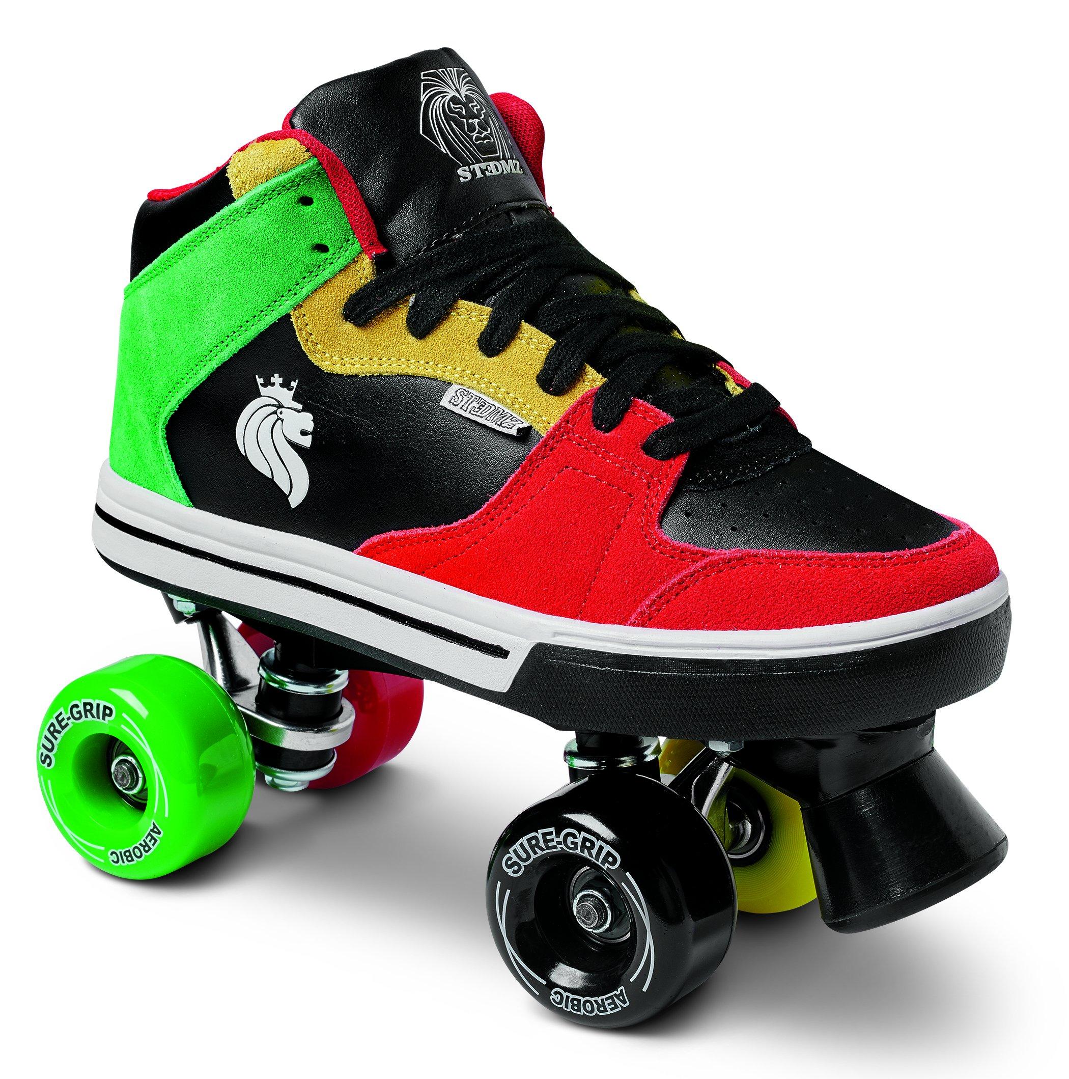 Sure-Grip Rasta Mid Top Shoe Roller Skates (5.5)