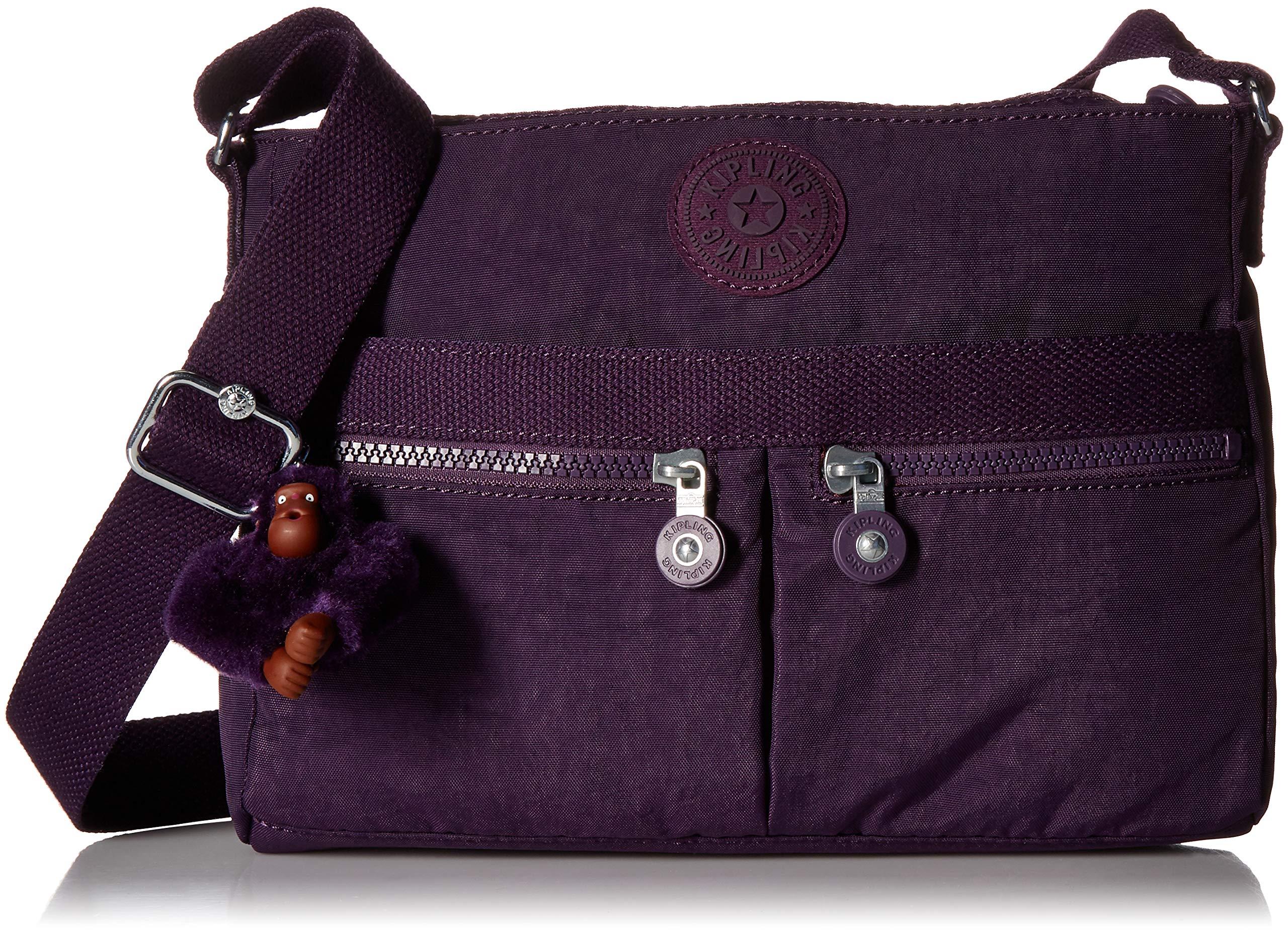 Kipling Women's Angie Solid Crossbody Bag, Deep Purple