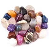 """Crystal Allies Materials: 3lb Tumbled Natural & Dyed Assorted Stone Mix from Brazil - 1.5"""" to 2.5"""""""