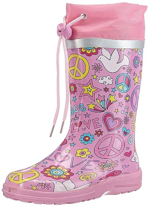 Beck Peace - Botas de goma de goma niña, color rosa, talla 23