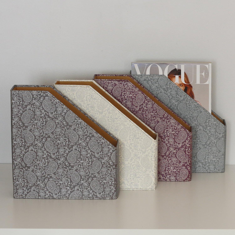 decorazione in tessuto Portariviste formato A4 Karenza /& Co colori: Argento//Oro bianco