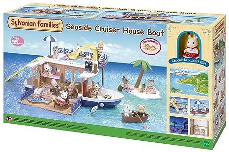 Muñecas Modelo Y Accesorios Sylvanian Families Día At The Seaside Juego Sylvanian Families