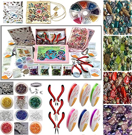 Amazon Com Adults Deluxe Jewelry Making Beads Mix Pliers Findings