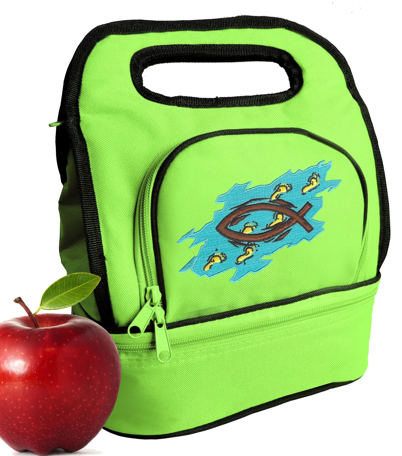 Christian Lunch Bag Cooler Christian Lunchbox with 2 Sections! by Broad Bay