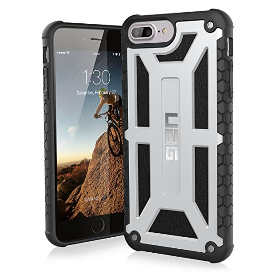 brand new 77640 45435 URBAN ARMOR GEAR UAG iPhone 8 Plus/iPhone 7 Plus/iPhone 6s Plus [5.5-inch  Screen] Monarch Feather-Light Rugged [Platinum] Military Drop Tested iPhone  ...