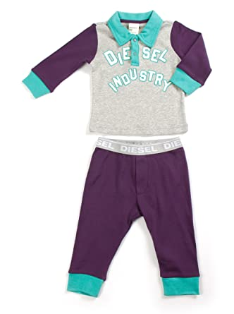 Diesel Baby Chandal Ugrito Gris/Violeta 12 Meses (80 cm): Amazon ...