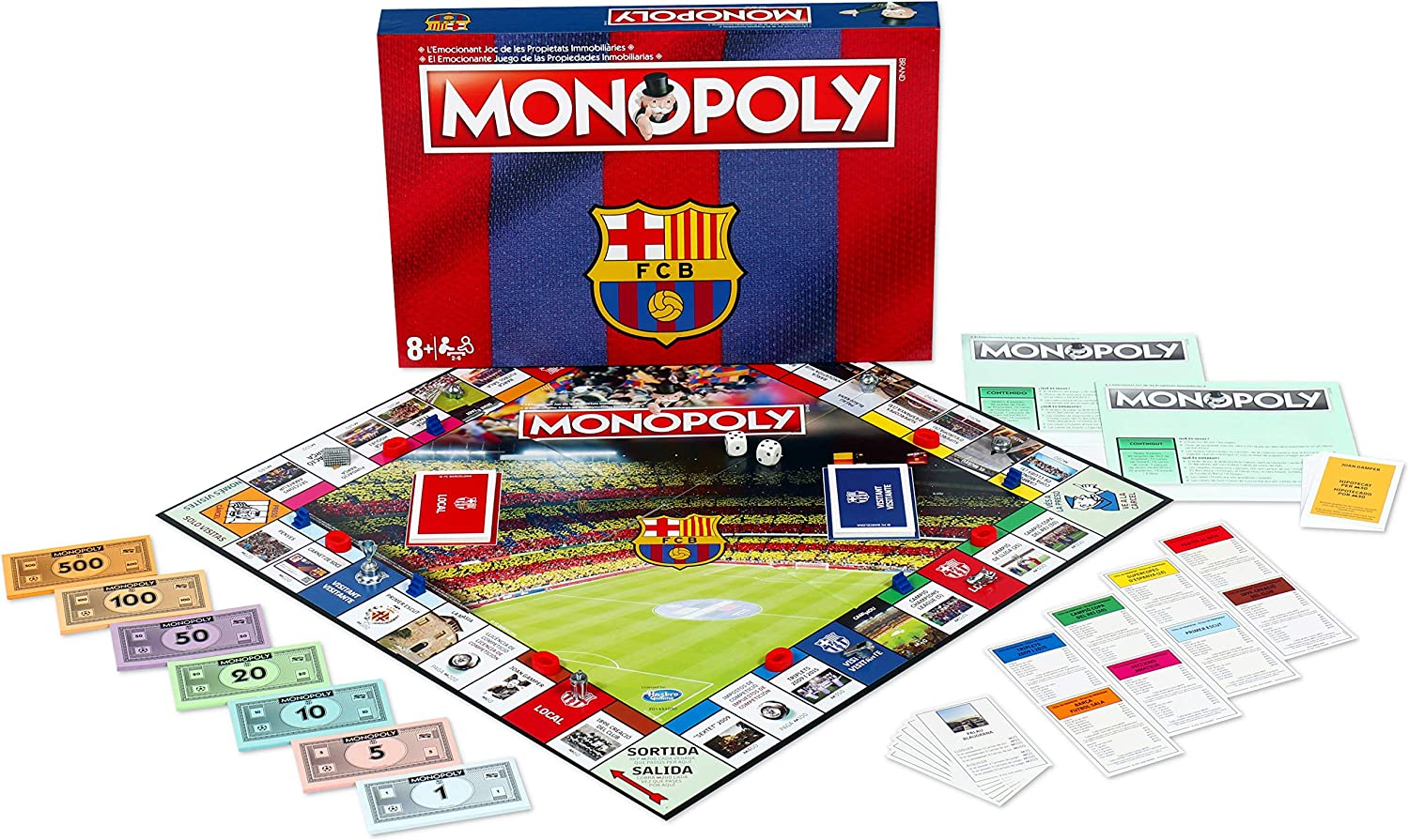 Winning Moves Monopoly FC Barcelona (10537), Multicolor: Amazon.es ...