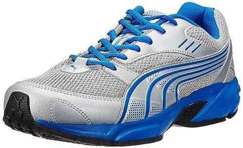 02d68543e47e Puma Men s Pluto DP Puma Silver-Snorkel Blue Running Shoes - 6 UK India