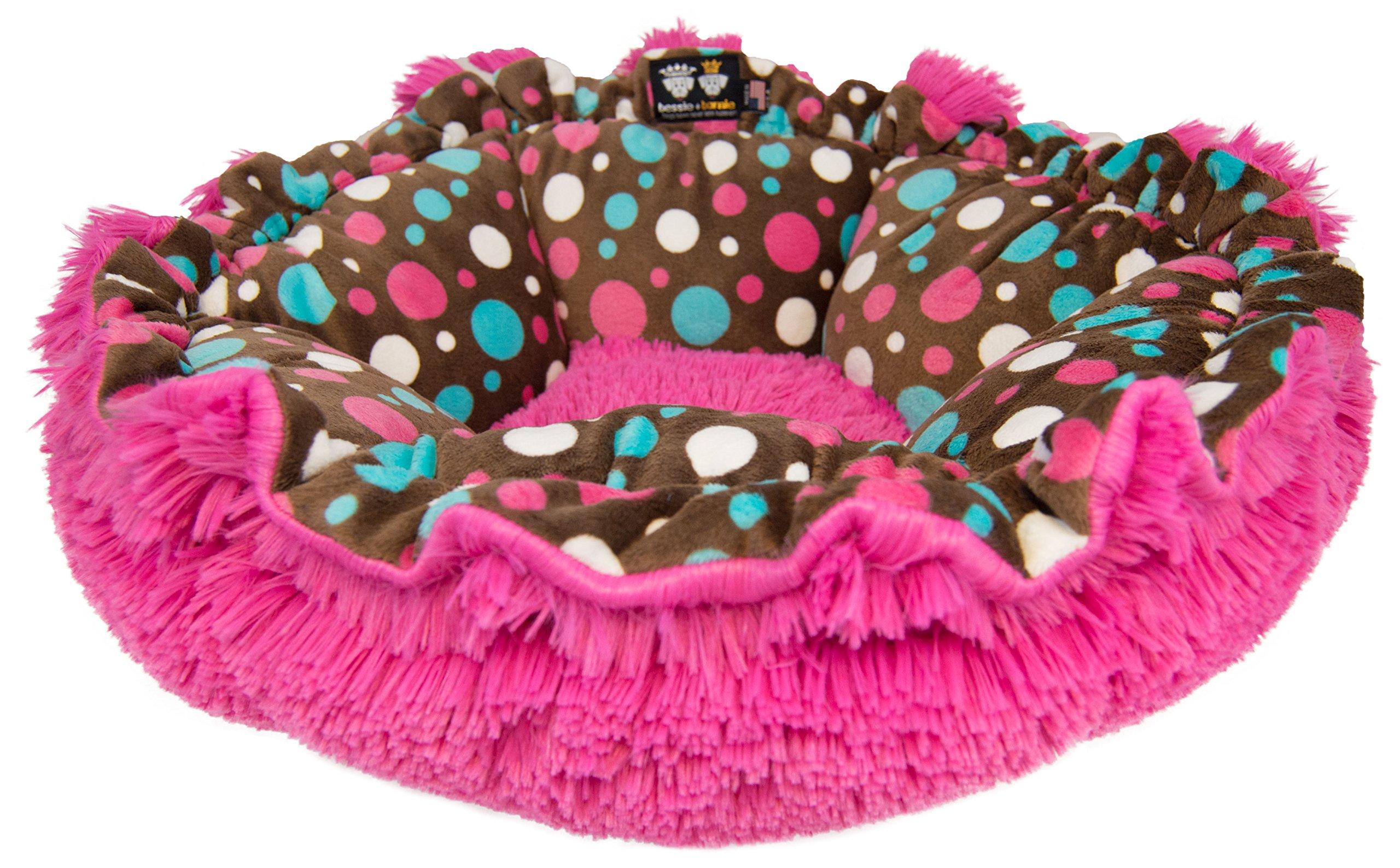 BESSIE AND BARNIE Ultra Plush Cake Pop/Lollipop Luxury Shag Deluxe Dog/Pet Cuddle Pod Bed by BESSIE AND BARNIE