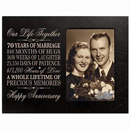 Amazon 70th Anniversary Gifts For Her Him 70 Year Wedding