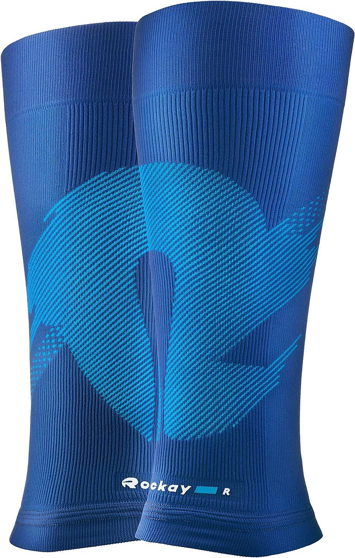 1 Pair ROCKAY Blaze Calf /& Shin Graduated Compression Leg Sleeves for Men And Women 16-23 mmHg