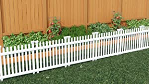 Zippity Outdoor Products ZP19056 Roger Rabbit Garden Fence, White