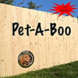 "PET-A-BOO Pet Window Fence Acrylic Clear Dome 9.5"" or 16"" Diameter 