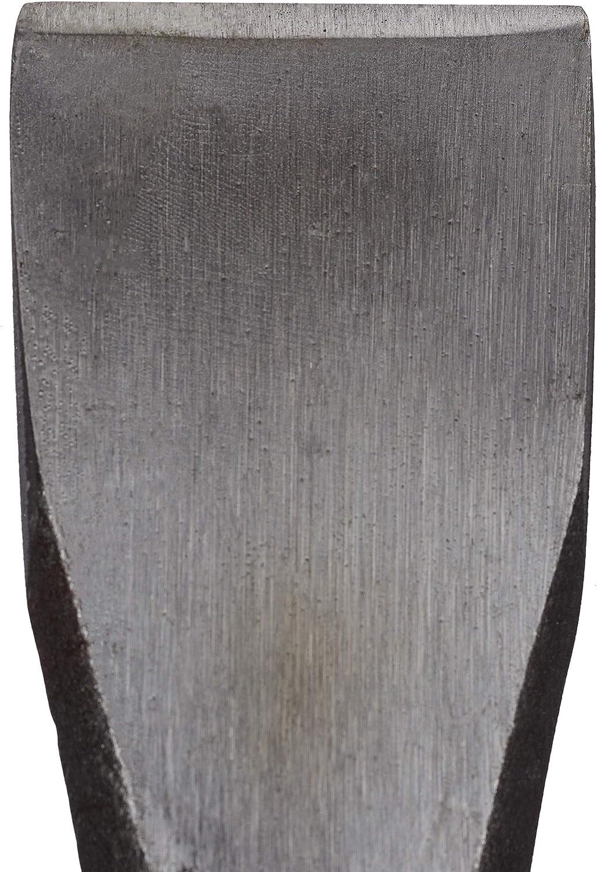 Relaxdays Flachmei/ßel mit Handschutz pr/äziser Putzmei/ßel Stahl /& Gummi 35mm Fliesen Mei/ßel gr/ün//schwarz 29 cm lang