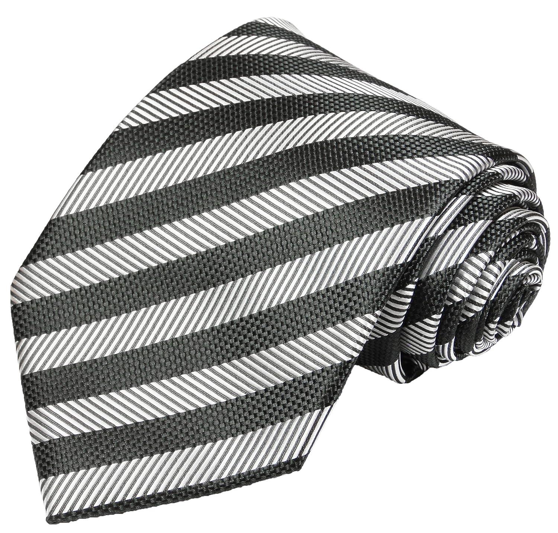 Festliche Herren Weste Set 4tlg schwarz silber gestreift Paul Malone