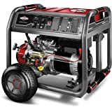 Briggs & Stratton 30471 8000-Watt Gas Powered Portable Generator with 2100 Series 420cc Engine and Key Electric Start, Engine Oil Included