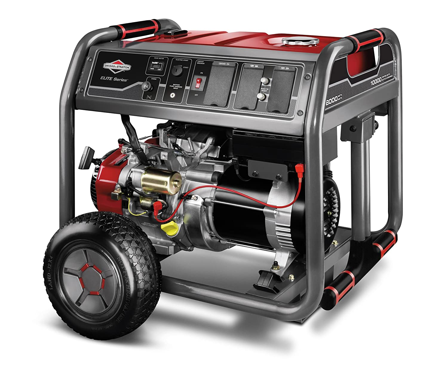 Amazon.com: Briggs & Stratton 30471 8000-Watt Gas Powered Portable Generator  with 2100 Series 420cc Engine and Key Electric Start, Engine Oil Included:  ...