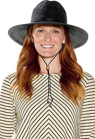 fa27ff1a9ebf06 Coolibar UPF 50+ Women's Tempe Sun Hat - Sun Protective (One Size- Black)  at Amazon Women's Clothing store: