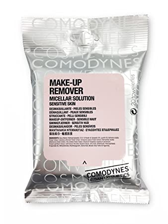 Amazon.com : Comodynes Make Up Remover Towels for Face and Eyes, Oats (Sensitive skin) - 20 ea : Other : Beauty