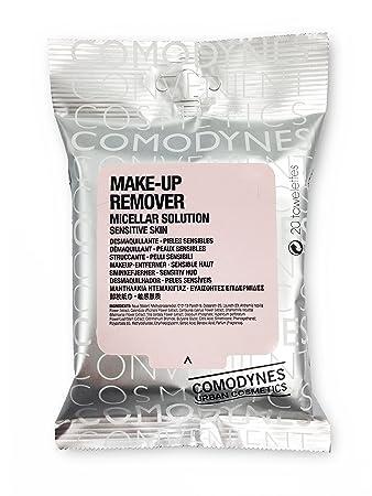 Comodynes Make Up Remover Towels for Face and Eyes, Oats (Sensitive skin) - 20 ea