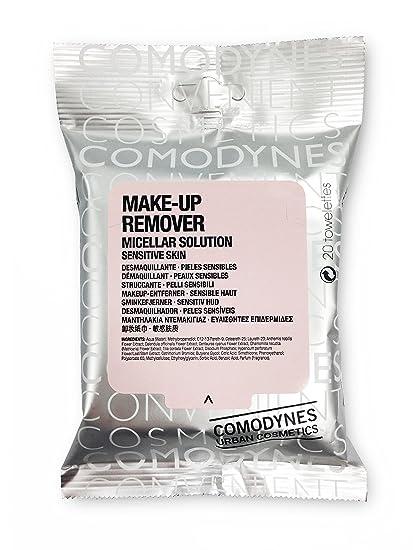 Comodynes Make-Up Remover Sensitive Skin Toallita Desmaquillante - 20 Unidades | Toallitas hipoalergénicas para