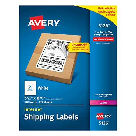 Amazon Avery Shipping Address Labels Laser Printers 200