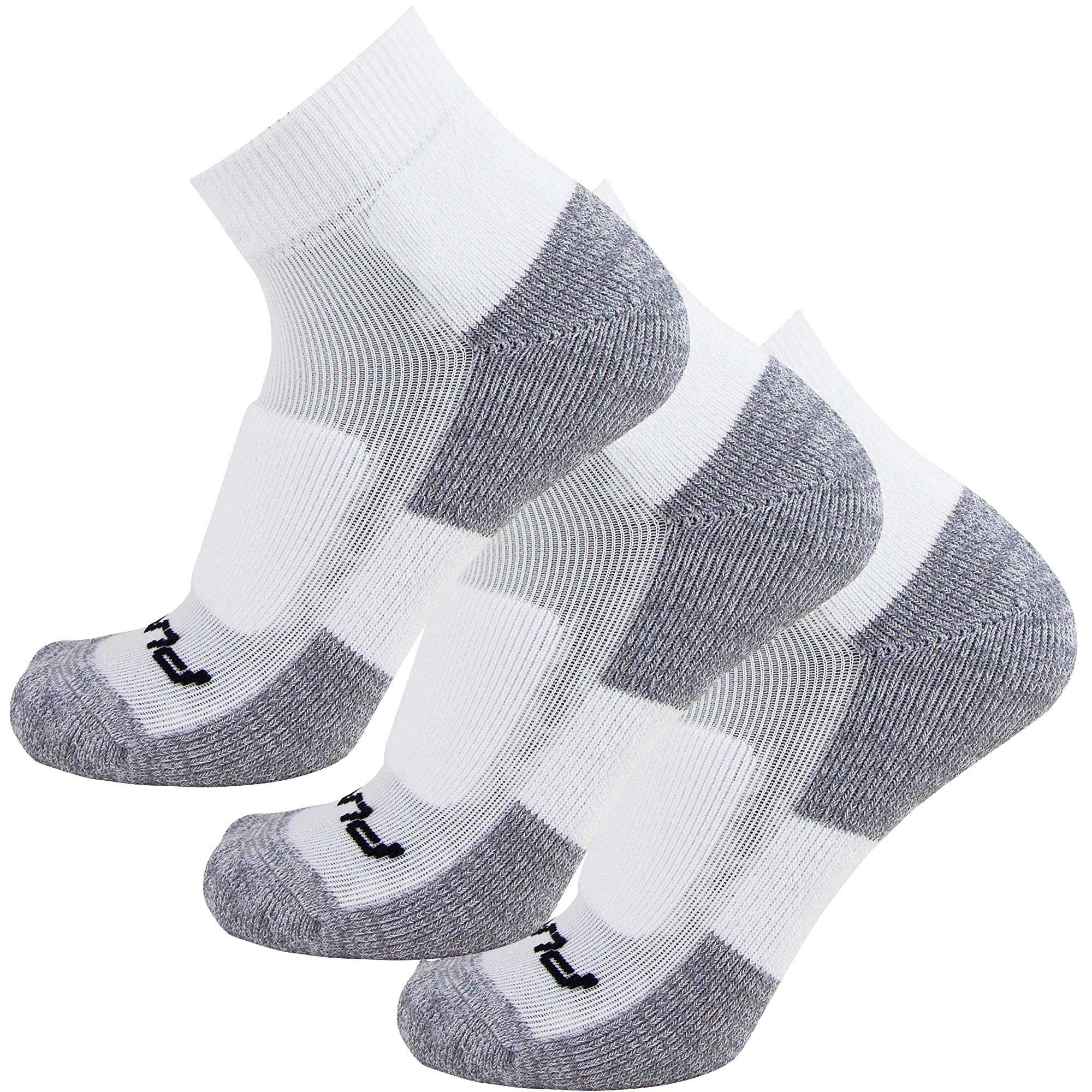 Comfort Padded Walking Socks – Everyday Ultra-Comfortable Anti-Blister Walker Socks – Also use for Jogging, Running, Sports (L/XL, White - 3 Pack)