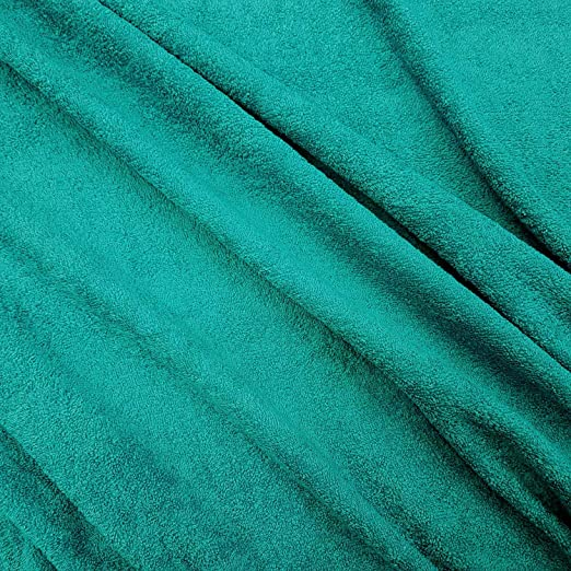 Stof Tela por Metros, Rizo de Rizo, Color Azul petróleo, Canard de algodón Puro, Suave y Grueso, vellón a Ambos Lados: Amazon.es: Hogar