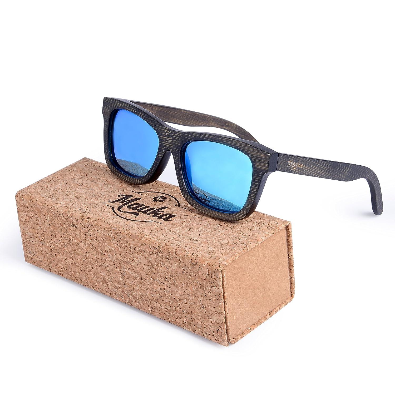 a9e31c863304 Amazon.com  MAUKA Bamboo Wood Sunglasses