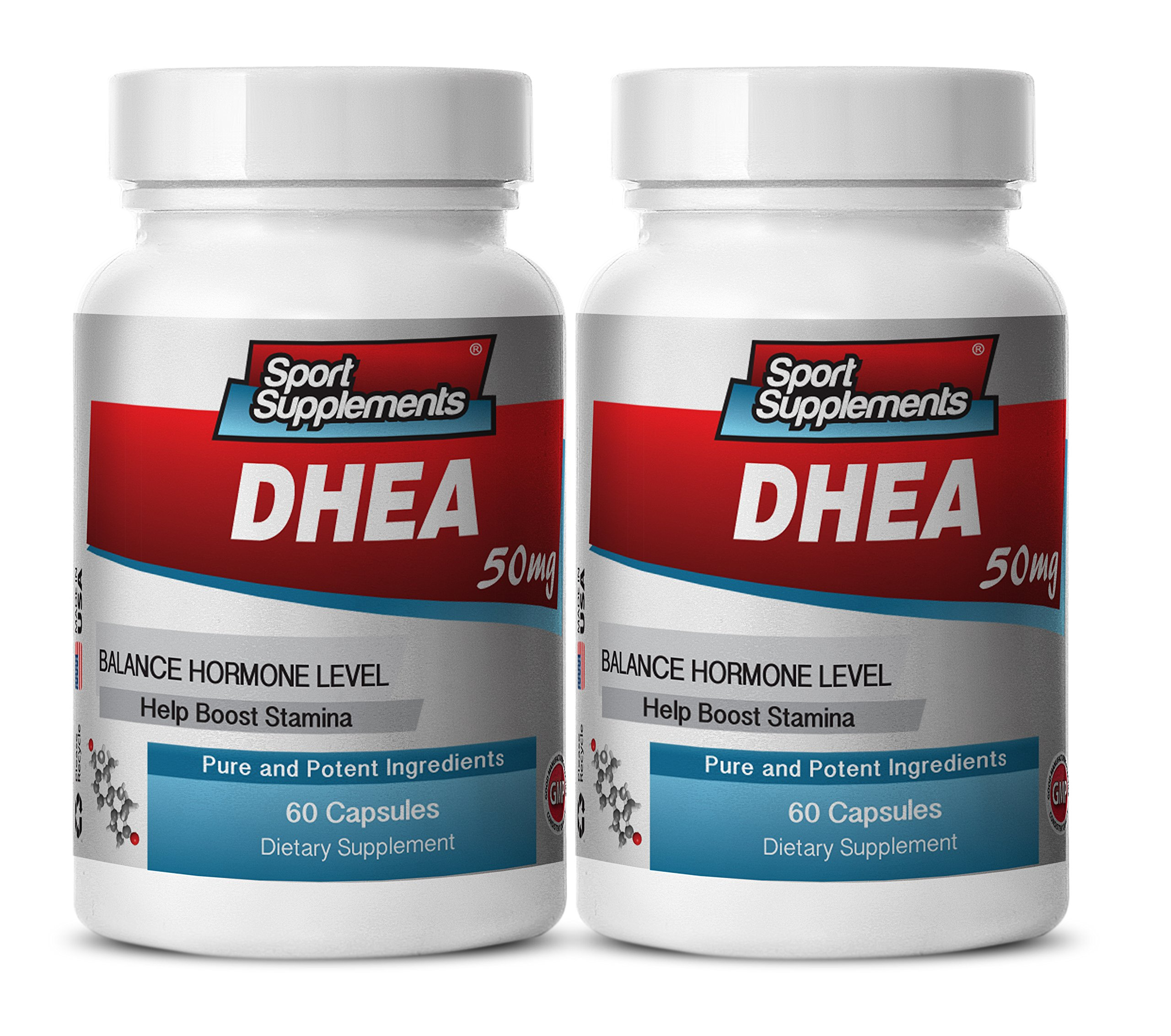 Pure dhea Supplement - DHEA 50mg - Premium DHEA Supplement to Enhance Sexual Performance, Desire and Sex Drive (2 bottles 120 capsules)