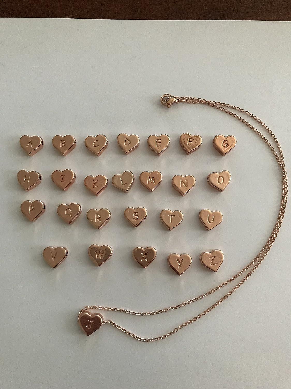 Rose Gold monogram necklace letter A