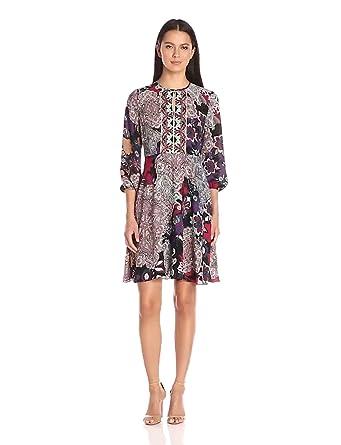 Donna Morgan Women\'s Printed Dress at Amazon Women\'s Clothing store: