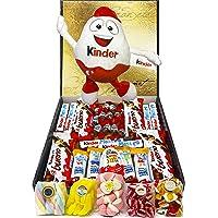 Cesta Regalo Kinder Chocolates y Chuches, Contiene Kinder Chocobons, Kinder Bueno, Kinder Maxi, Kinder Joy, Kinder Happy…