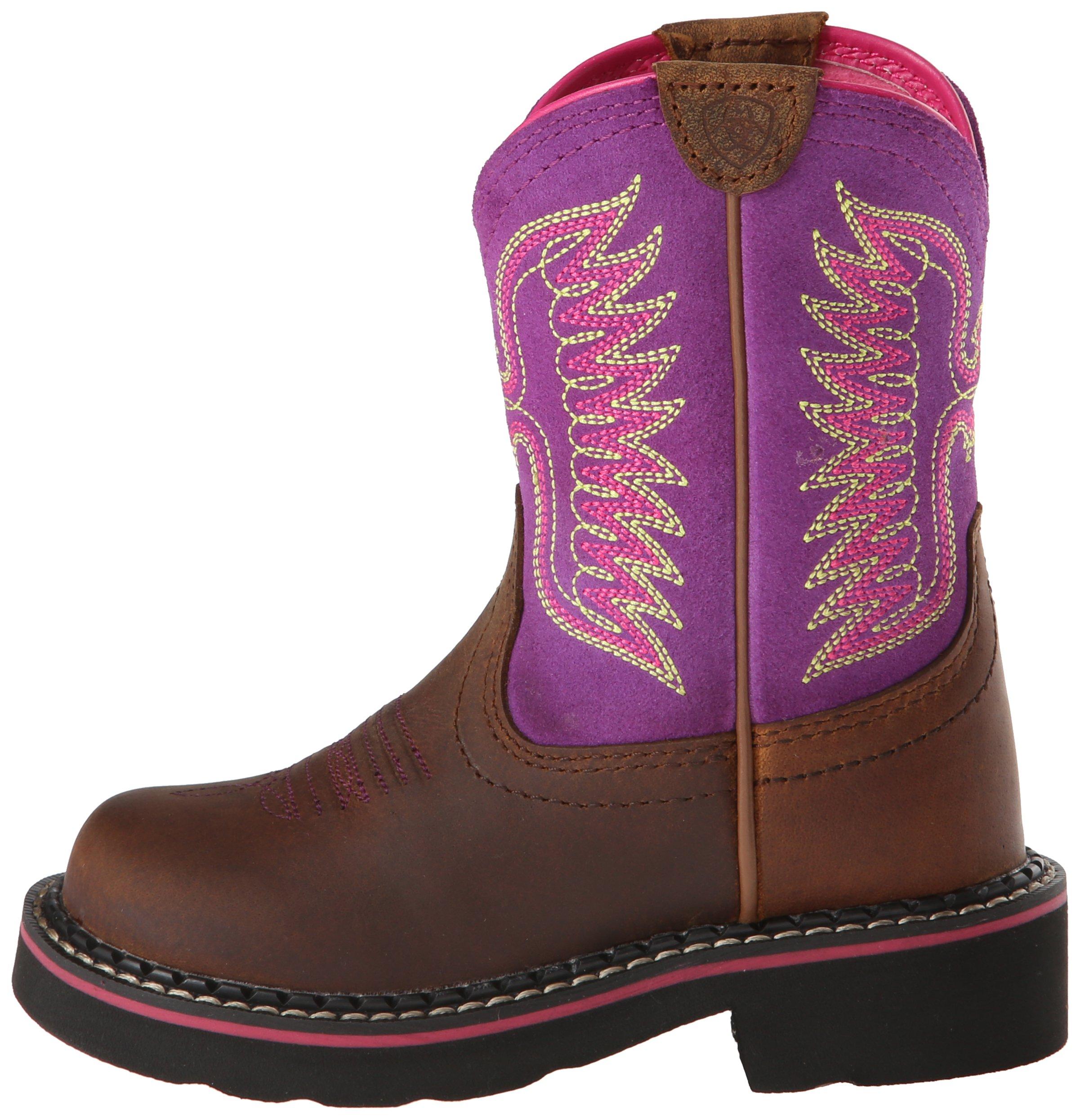 Kids' Fatbaby Thunderbird Western Cowboy Boot, Powder Brown/Amethyst, 12.5 M US Little Kid by ARIAT (Image #5)