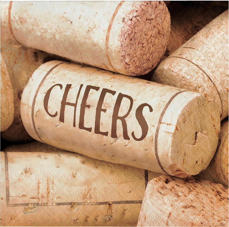 Sip Sip Hooray Wine Beverage Napkins, Cheers, 48 ct